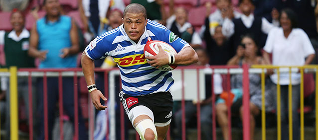 CAPE TOWN, SOUTH AFRICA - OCTOBER 09: Juan de Jongh of Western Province during the  Absa Currie Cup match between DHL Western Province and Eastern Province Kings at DHL Newlands on October 09, 2015 in Cape Town, South Africa. (Photo by Carl Fourie/Gallo Images)