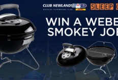 Win a Weber Smokey Joe at the DHL Club Newlands Sleepover!