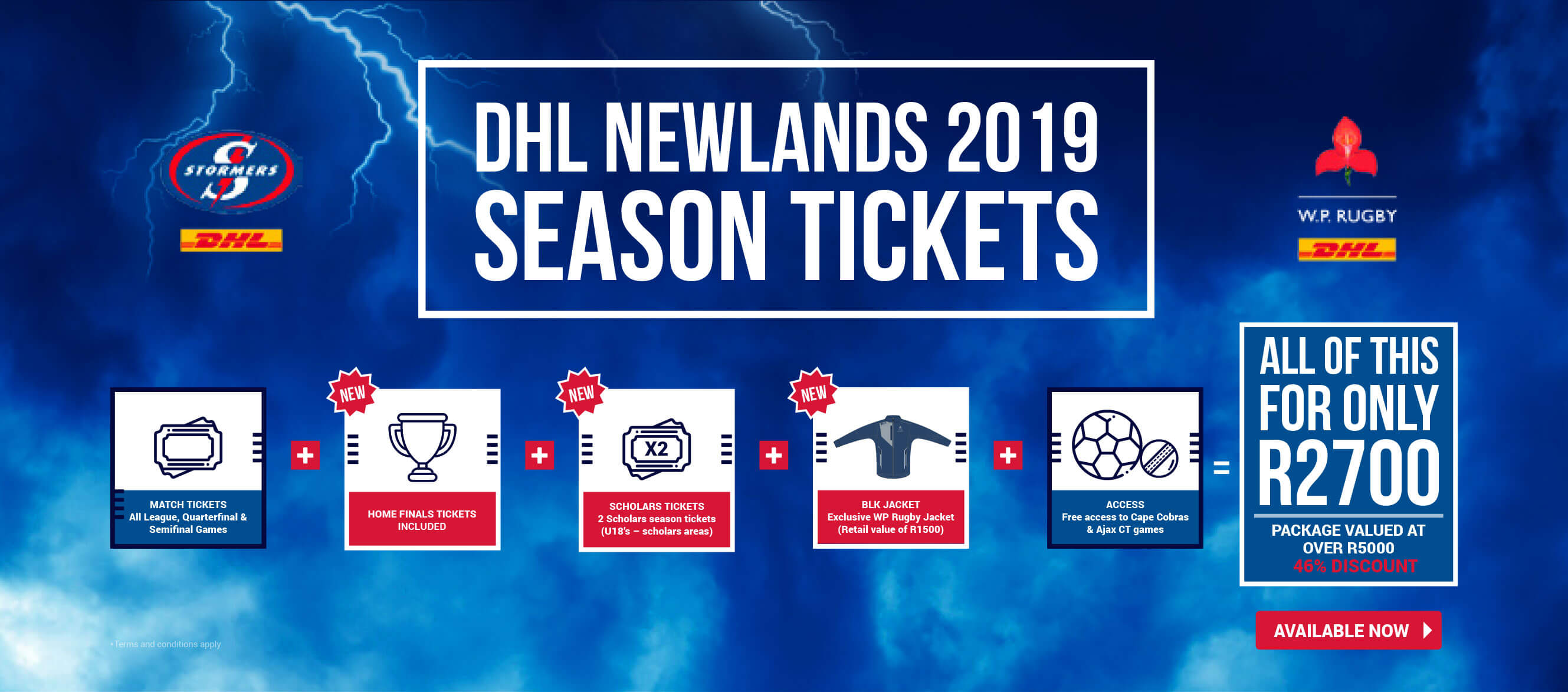 WP Rugby | Renew your DHL Newlands 2019 season tickets NOW